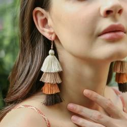 Boucles d'oreilles camaieu de couleurs