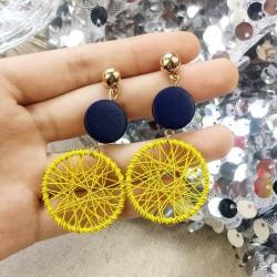 Boucles d'oreilles double disques attape-rêve