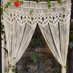 rideaux en macramé